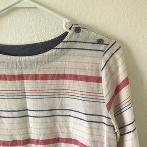 Tops - Striped Summer Tunic w/ Pockets